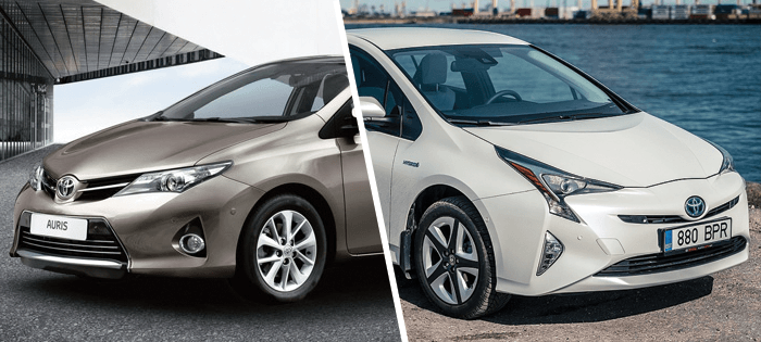 Toyota Prius Vs Auris The Complete Comparison Car From Japan