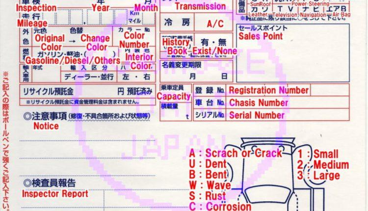 USED CAR AUCTION GRADE : BASIC INFORMATION - CAR FROM JAPAN