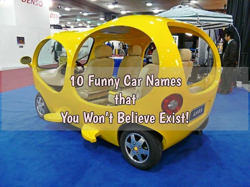 10 Funny Car Names that You Won't Believe Exist - CAR FROM ...