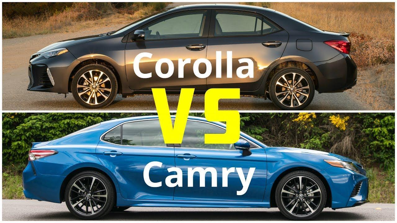 Tire Size Comparison >> Toyota Camry VS Corolla- Which Sedan to Choose now? - CAR ...