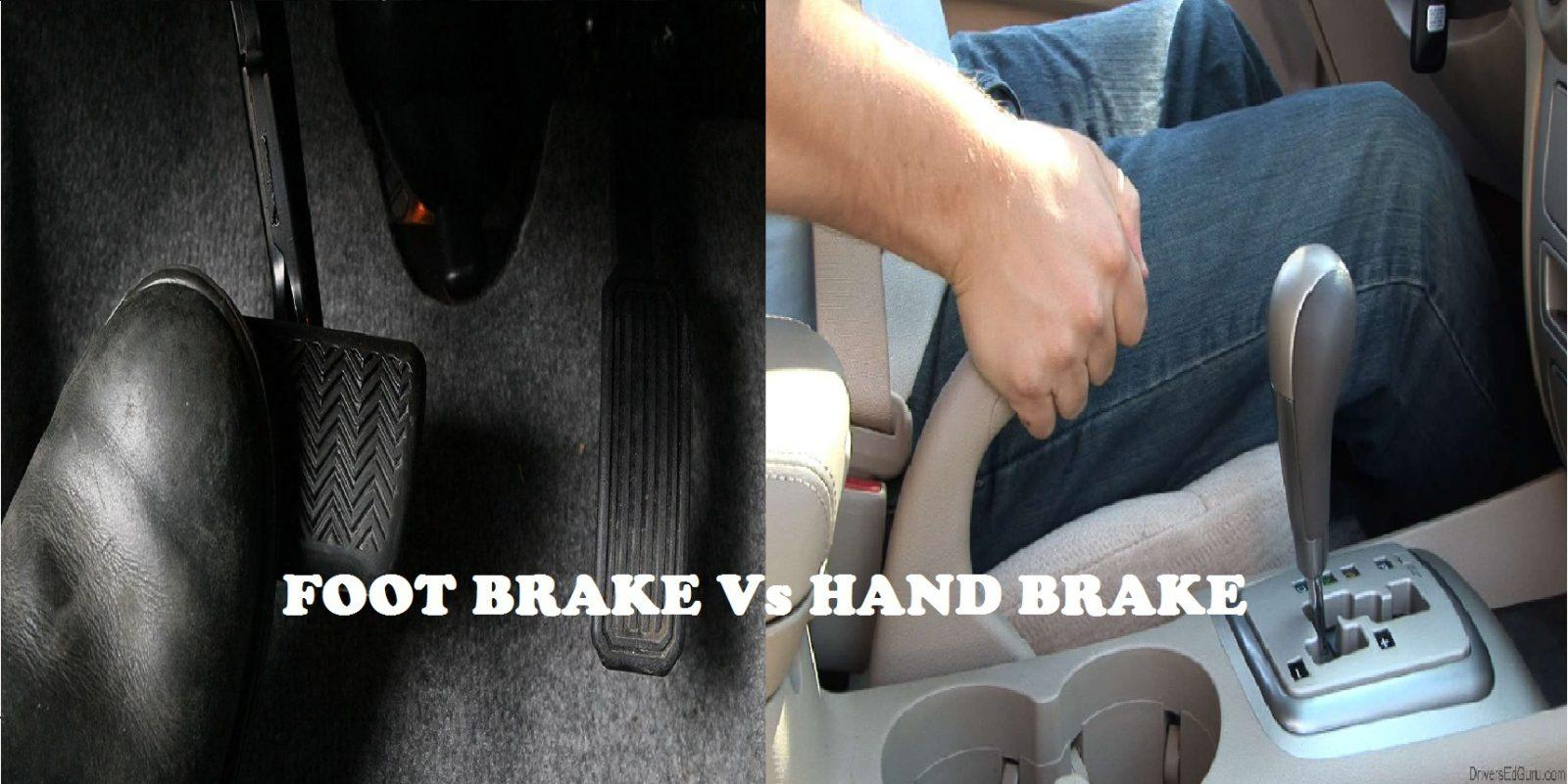 What Is The Difference Between Braking Using Foot Brake