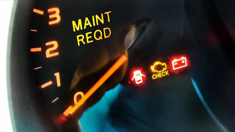 2009 toyota prius maintenance required light reset
